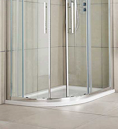 Offset Quadrant Shower Trays - White