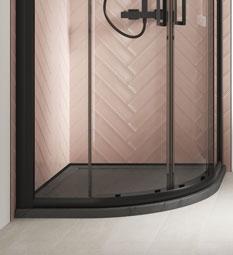 Quadrant Shower Trays - Slate Grey