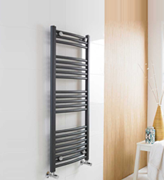 Anthracite Heated Ladder Rail