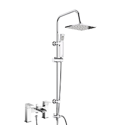 Shower Rigid Riser Bath Filler Taps