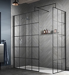 Black Framed Wetroom Screens