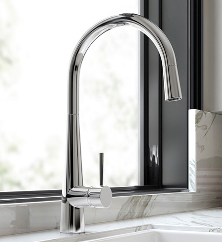 Chrome Kitchen Taps