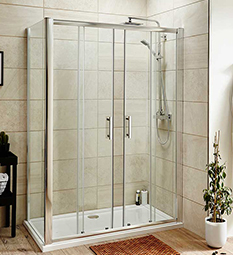 Pacific Double Sliding Doors & Enclosures 6mm Glass