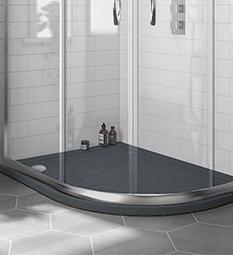Offset Quadrant Shower Trays - Slate Grey