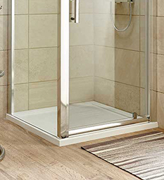 Square Shower Trays - White