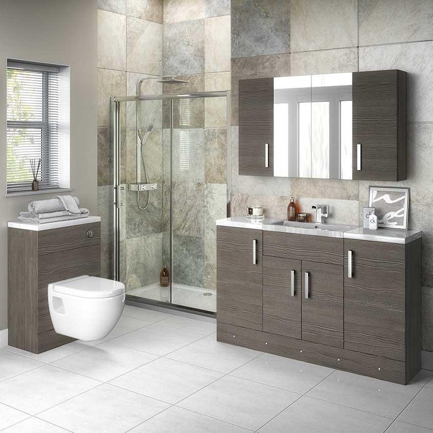 Hudson Reed 300mm Drawer Unit In Grey Avola Off532 Bathroom House