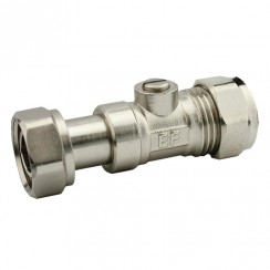 "15mm x 1/2"" union, Straight Service Valve"