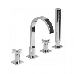 Hudson 4 Hole Bath Shower Mixer Tap