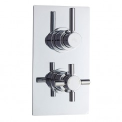 Tec Pura Twin Thermostatic Concealed Shower Valve With Diverter
