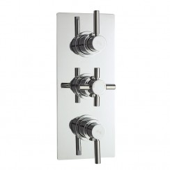 Tec Pura Triple Thermostatic Concealed Shower Valve With Diverter