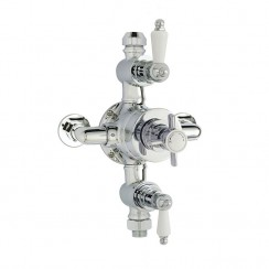 Edwardian Triple Thermostatic Exposed Shower Valve