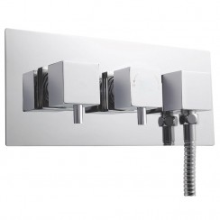 Volt Twin Valve With Diverter & Built-in Outlet