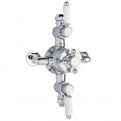 Victorian Triple Thermostatic Exposed Shower Valve