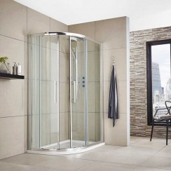 Apex 900 x 800mm Offset Quadrant Shower Enclosure