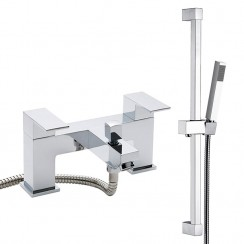 Art Bath Shower Mixer Tap & Rail Kit