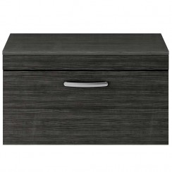 Athena Hacienda Black 800mm Wall Hung 1 Drawer Cabinet & Worktop