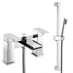 Babington Bath Shower Mixer Tap & Rail Kit