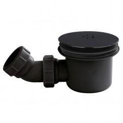 90mm Fast Flow Shower Waste Black
