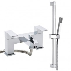 Boston Bath Shower Mixer Tap & Rail Kit