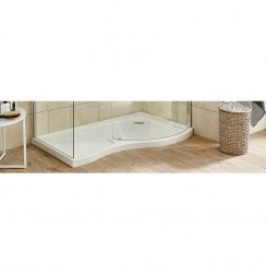 Pacific Curved Walk-In Right Hand Shower Tray
