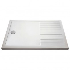 Walk-in Rectangular Shower Tray 1600 X 800 Stone - 40mm Low Profile