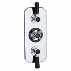 Topaz Black Triple Concealed Shower Valve With Diverter
