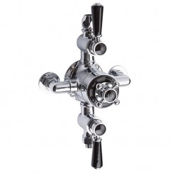 Topaz Black Triple Exposed Shower Valve