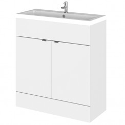 Hudson Reed - Gloss White 800mm Combination Vanity Unit & Basin - Full Depth