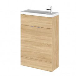 Hudson Reed - Natural Oak 600mm Combination Vanity Unit & Basin - Slimline