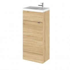 Hudson Reed - Natural Oak 400mm Combination Vanity Unit & Basin - Slimline