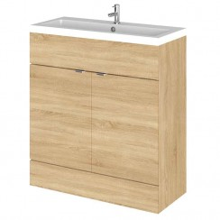 Hudson Reed - Natural Oak 800mm Combination Vanity Unit & Basin - Full Depth