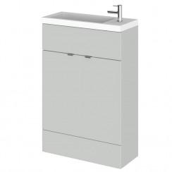 Hudson Reed - Gloss Grey Mist 600mm Combination Vanity Unit & Basin - Slimline