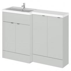 Hudson Reed - Gloss Grey Mist 1200mm Combination Vanity Unit, Base Unit & L Shaped Basin - Full Depth - L H