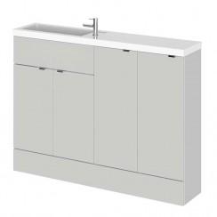 Hudson Reed - Gloss Grey Mist 1200mm Combination Vanity Unit, Base Unit & Basin - Slimline