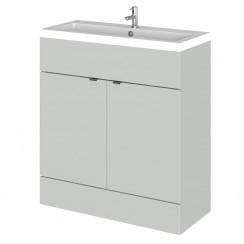Hudson Reed - Gloss Grey Mist 800mm Combination Vanity Unit & Basin - Full Depth