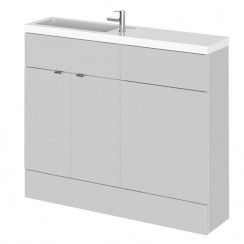Hudson Reed - Gloss Grey Mist 1000mm Combination Vanity Unit, WC Unit & Basin - Slimline