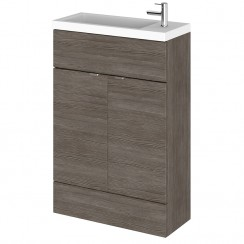 Hudson Reed - Grey Avola 600mm Combination Vanity Unit & Basin - Compact