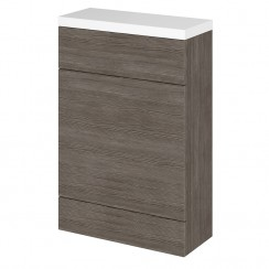 Hudson Reed - Grey Avola 600mm Combination WC Unit & WC Top - Compact