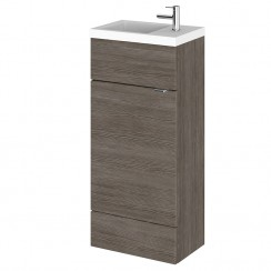 Hudson Reed - Grey Avola 400mm Combination Vanity Unit & Basin - Compact