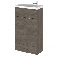 Hudson Reed - Grey Avola 500mm Combination Vanity Unit & Basin - Compact