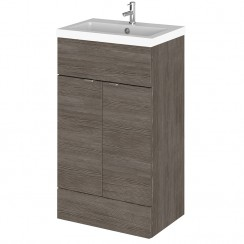 Hudson Reed - Grey Avola 500mm Combination Vanity Unit & Basin - Full Depth