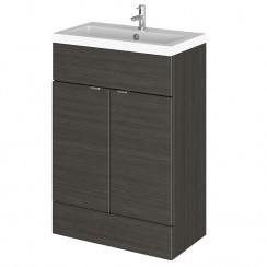 Hudson Reed - Hacienda Black 600mm Combination Vanity Unit & Basin - Full Depth