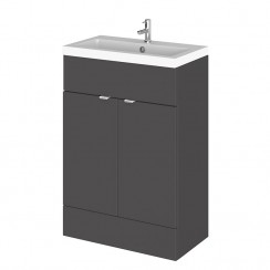 Hudson Reed - Gloss Grey 600mm Combination Vanity Unit & Basin - Full Depth