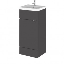 Hudson Reed - Gloss Grey 400mm Combination Vanity Unit & Basin - Full Depth