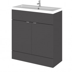 Hudson Reed - Gloss Grey 800mm Combination Vanity Unit & Basin - Full Depth