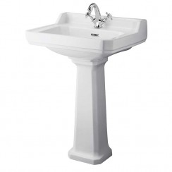 Richmond 600mm Basin & Comfort Height Pedestal (1 Tap Hole)
