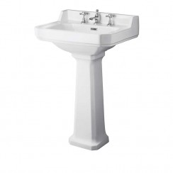 Richmond 560mm Basin & Comfort Height Pedestal (3 Tap Hole)