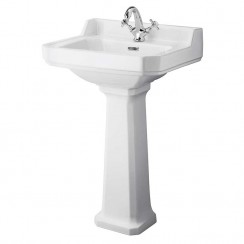 Richmond 560mm Basin & Comfort Height Pedestal (1 Tap Hole)