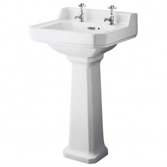 Richmond 500mm Basin & Comfort Height Pedestal (2 Tap Hole)