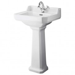 Richmond 500mm Basin & Comfort Height Pedestal (1 Tap Hole)